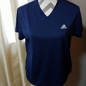 Adidas v-neck moisture wicking shirt